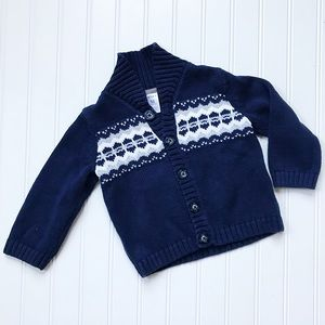 Carter's Shirts & Tops - •Carter's• Navy/White Fair Aisle sweater